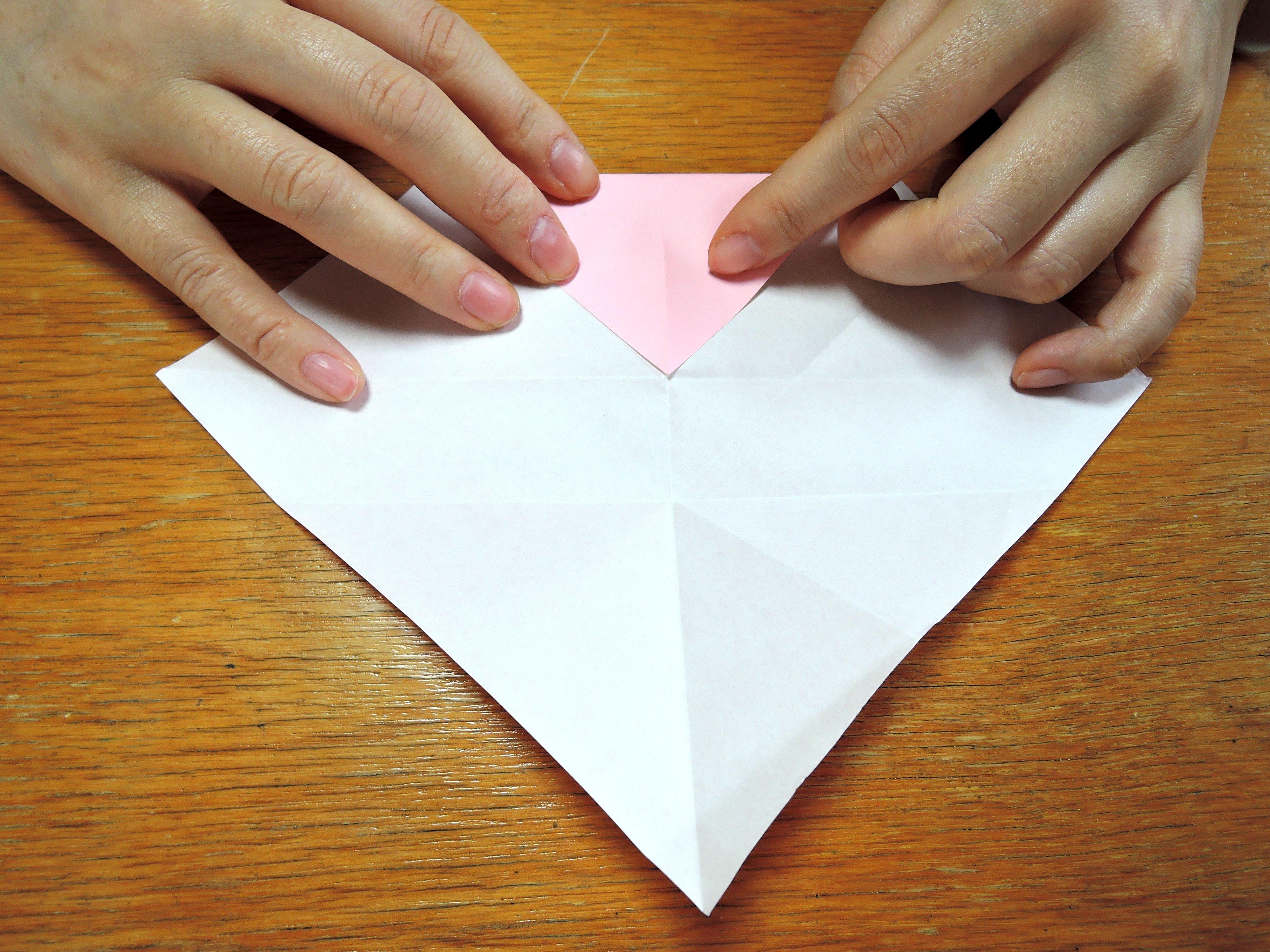 すべての折り紙 折り紙 鬼 折り方 : 超簡単!折り紙ハートの折り方 ...